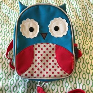 EUC skip*hop owl toddler backpack w/ leash